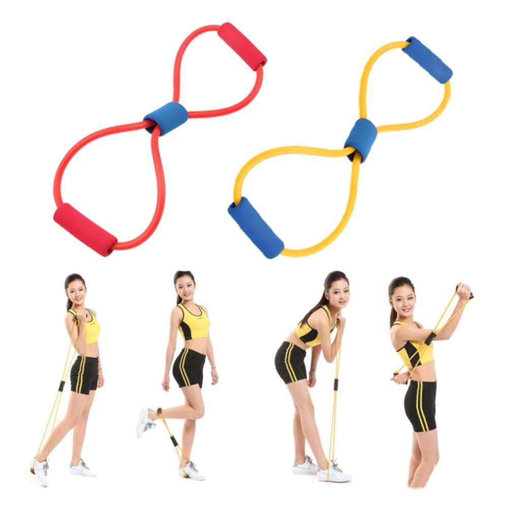 8 Tipo Muscle Chest Expander Exercício Puxando Exercitador de Fitness Exercício Tubo Esportes Yoga novo a mesma força