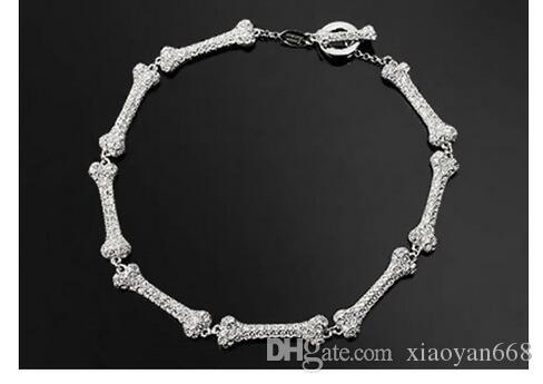 Gratis schip mode-sieraden fijne sieraden luxe bas wandelgalerij bot botten sectie ketting armband sieraden sets S592