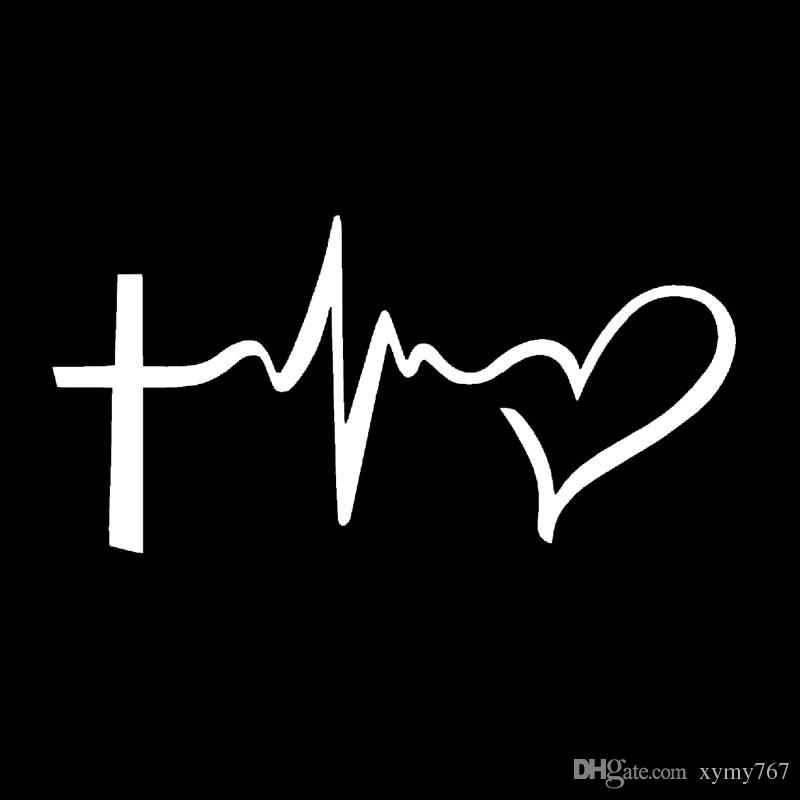 2019 Faith Hope Love Vinyl Decal Sticker Car Window Wall Bumper Symbol Heart Cross Personalized Car Stickers Decals Jdm From Xymy767 1 31