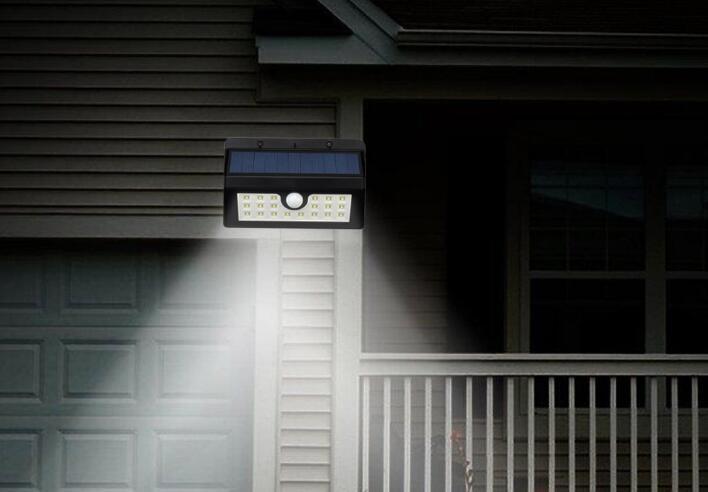 45 Luzes solares LED Sensor de movimento solar Lâmpadas de jardim à prova d'água com três modos super brilhante