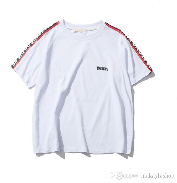 Hombro de gran tamaño para hombre de la camiseta de manga corta de verano Streetwear Hip Hop camisetas Hombres Ropa envío