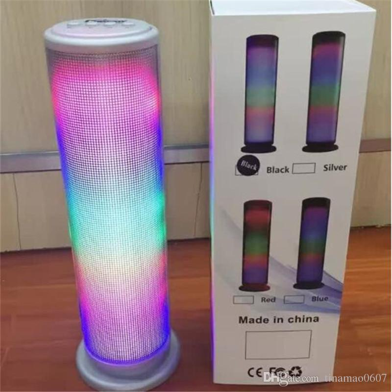 JHW-V169 Colorful Dazzle LED Light Pulse Dancing Wireless Bluetooth Speaker Portable Outdoor Stereo Music Surround Music Player Handsfree