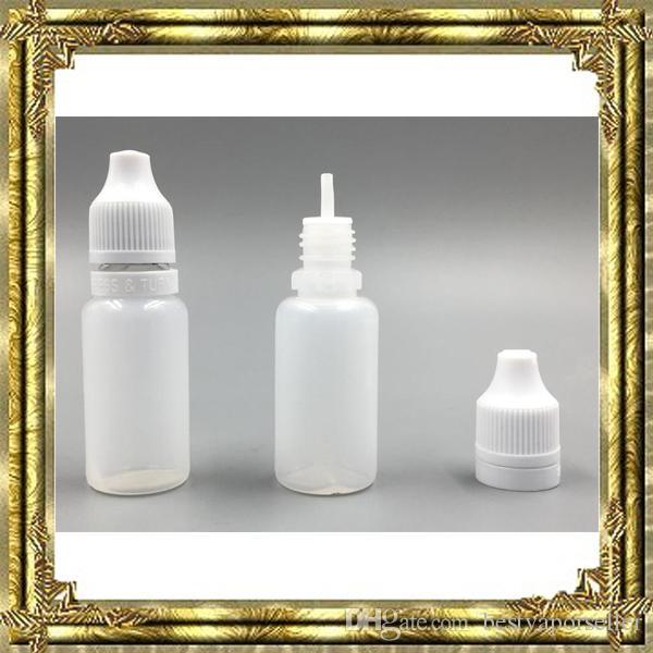 5 ml 10 ml 15 ml 20 ml 30 ml 50 ml 빈 액체 플라스틱 Dropper 병 어린이 증거 병 뚜껑 바늘 팁 E 액체 전자 cigs