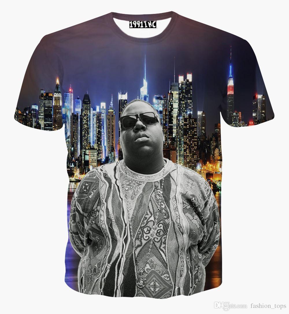 Maglietta estiva t-shirt da uomo / da donna 2017 nuova moda t-shirt Biggie Smalls maglietta manica corta maglietta uomo freddo