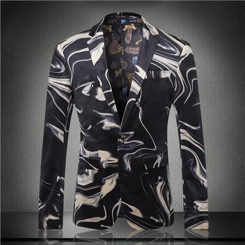 mâle vestes groom costume mariage blazer prom imprimé caractère affaires décontracté mince européen bonne veste pour chanteur danseur étoile Noël