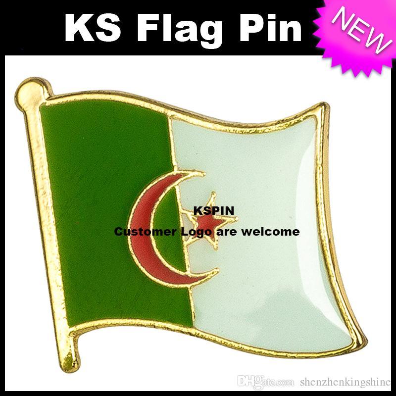 Algeria Flag Badge Badge Pin 10pcs molto trasporto libero KS-0002