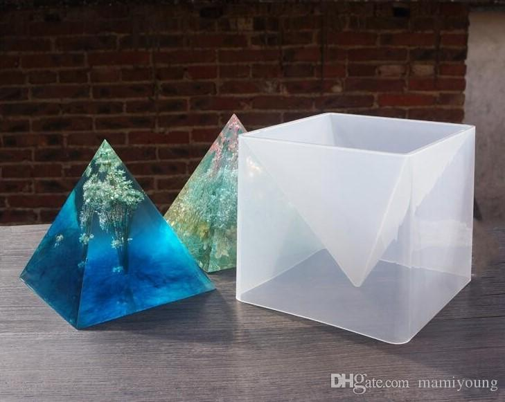 1 satz Übergroße Pyramide silikonform DIY schmuck formen epoxidharz formen für schmuck