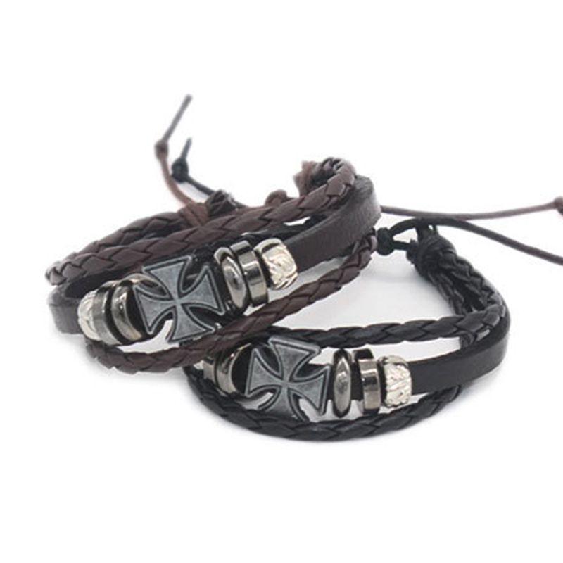 Length 18 CM Fashion Style Best Friendship Gift String Bracelet Adjustable Mens Mens Leather Bracelet Bracelet WO09