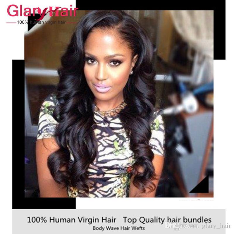 8a غير المجهزة البرازيلي بيرو الشعر الهندي حزم الشعر البشري 5 حزم شعر الجسم موجة 1b # 8-30 بوصة مختلطة طول ينسج اللحمات