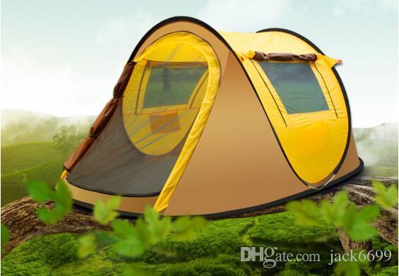 Tenda per alberi da pane all'aperto 3-4 persone Campo automatico Campeggio doppia pioggia 2 secondi Set tenda aperta