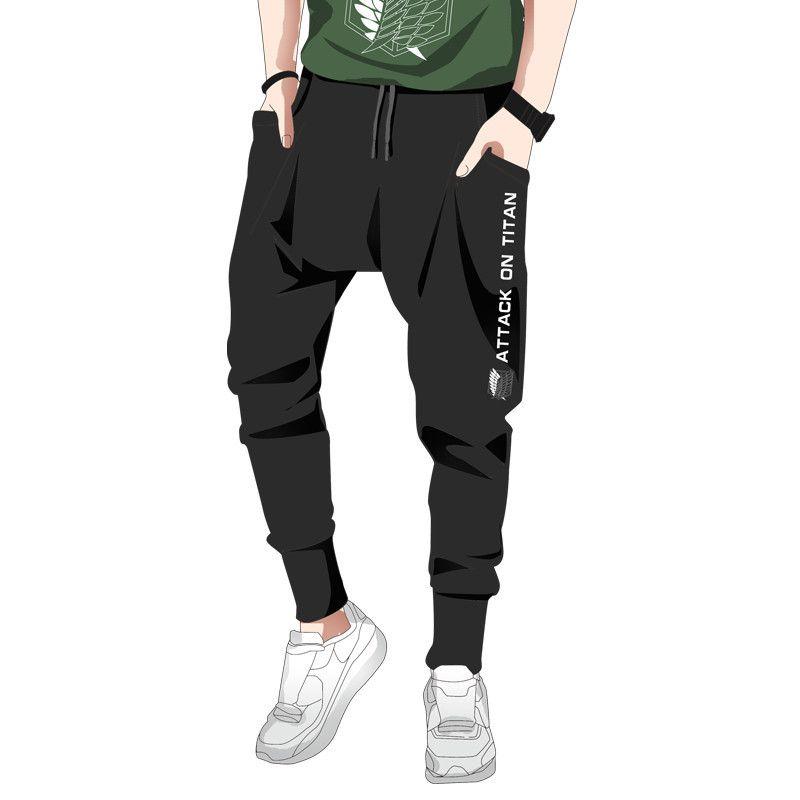 Kukucos Ataque animado en Titán Ocio Deportes Hailun pies pantalones pantalones flojos de Cosplay del traje de regalo