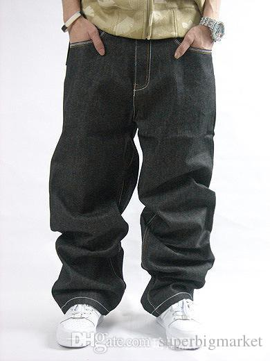 Europa e Stati Uniti più fertilizzante XL afflusso di jeans da uomo pantaloni pantaloni da skateboard hip-hop HIPHOP sfusi floreali