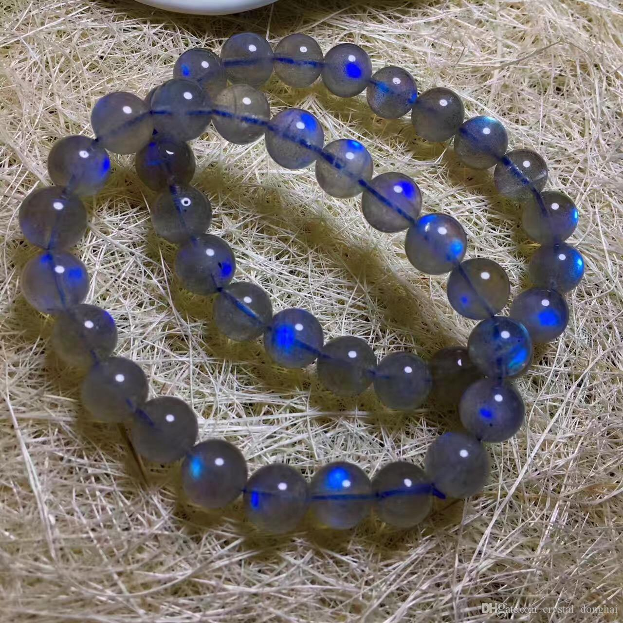photos officielles 643d8 8afcb 2019 Moonlight Stone Natural Crystal Bracelet Natural Blue Light  Labradorite Gemstone Bead Stretch Bracelet From Crystal_donghai, &Price;    DHgate.Com
