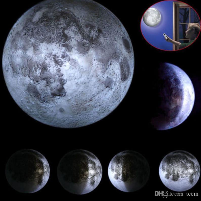 Luz do sensor da lâmpada da luz da noite da lua da parede do diodo emissor de luz com o controle remoto do diodo emissor de luz da noite da noite do diodo emissor de luz