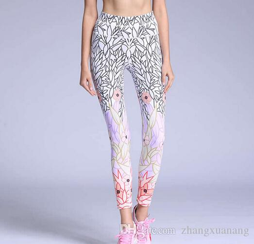 Yoga pants Sex Women Printing Sports Tights For Yoga Gym Sports Quick-drying Trousers Elastic Running Fitness Leggings