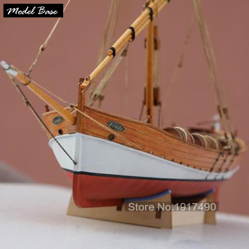 Wholesale Wooden Ship Models Kits Diy Train Hobby Model Wood Boats 3d Laser Cut Scale 1 48 Model Ship Assembly Educational Leudo1800 1900 Wooden