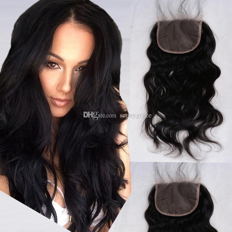 Lace Front Closure 4x4 Natural Wave Swiss