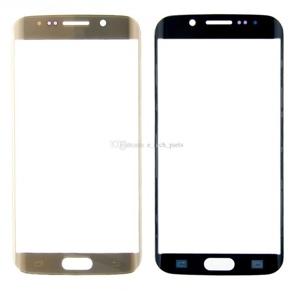 Samsung Galaxy S6 Kenar G9250 G925 G925V G925P Ön Dokunmatik Cam Ekran Mercek Paneli Yedek İçin Logo Orijinal S6 Kenar Cam Lens