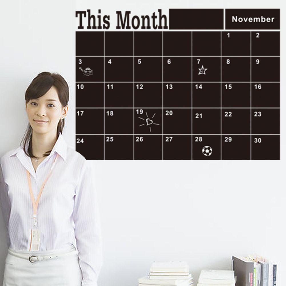 سبورة 2020 جديد هذا الشهر اللوازم ملصقات الحائط لاصقة خطة شهري التقويم السبورة ملصقات الحائط مدرسة مكتب 46.5 * 58.5CM (7)
