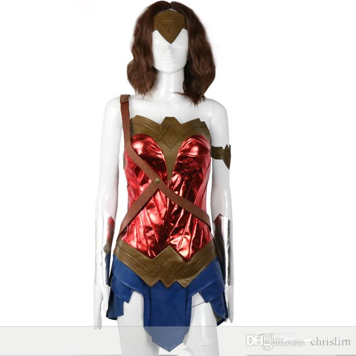 New arrival DC Theme/Movie Wonder Woman Cosplay Princess Diana Costume Skirt + Headband + Belts per set