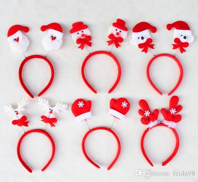 Banda para el Cabello Caliente Regalo de Navidad Cinta Accesorio Para el Cabello Decoración Hogar Fiesta Jefe Aro Envío Gratis G668