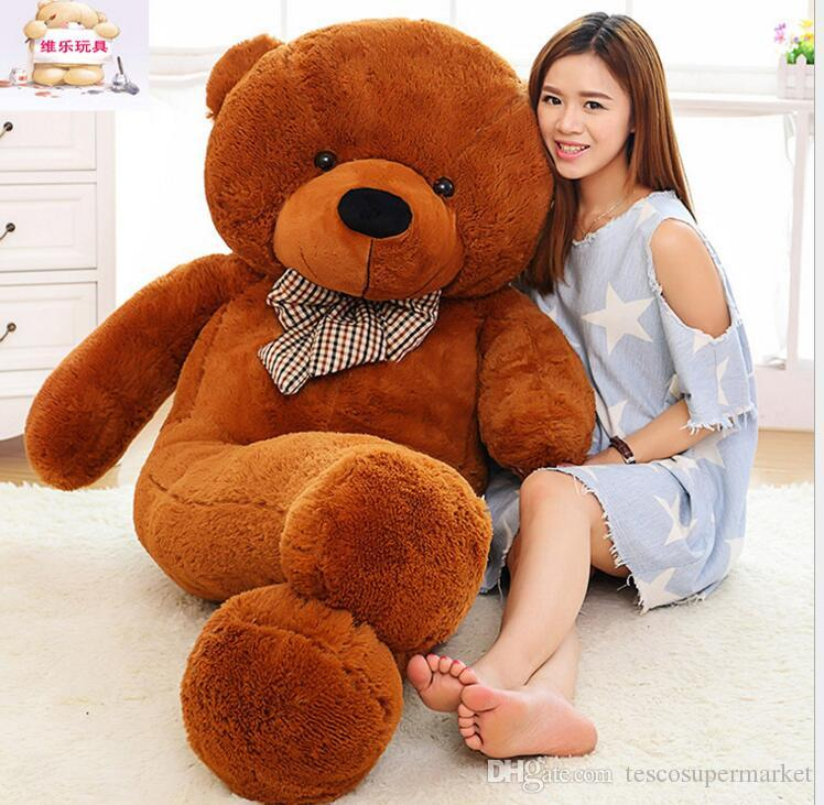 Factory direct sale fashion 250CM 8.2 FOOT Giant Huge plush teddy bears Holiday Gifts Valentines day Stuffed Plush toys EMS Free shipping