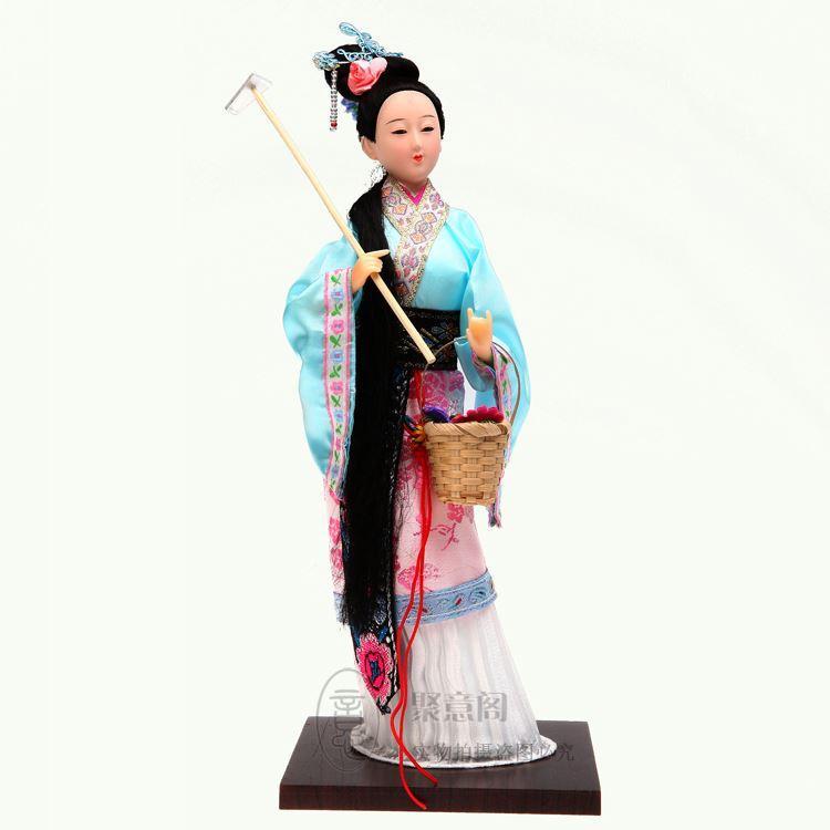 Regali estivi di seta di Pechino regali aziendali regali ornamenti bambola umana rosso 12 Chai Daiyu
