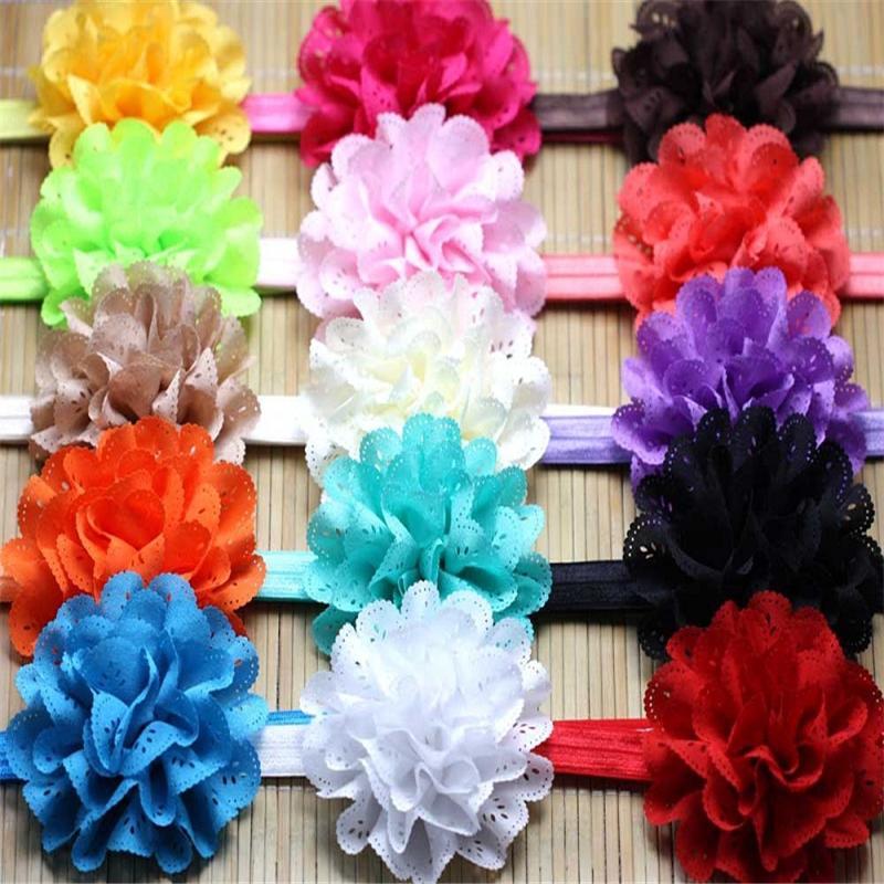 Großhandel Baby Headwear Kopf Blumen Haar Zusatz Stirnband Chiffon ...