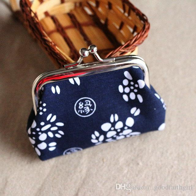 6pcs Fashion Hot Vintage stile etnico fiore portamonete portachiavi tela portamonete portafogli piccoli regali cambiare borsa frizione borsa presente natale