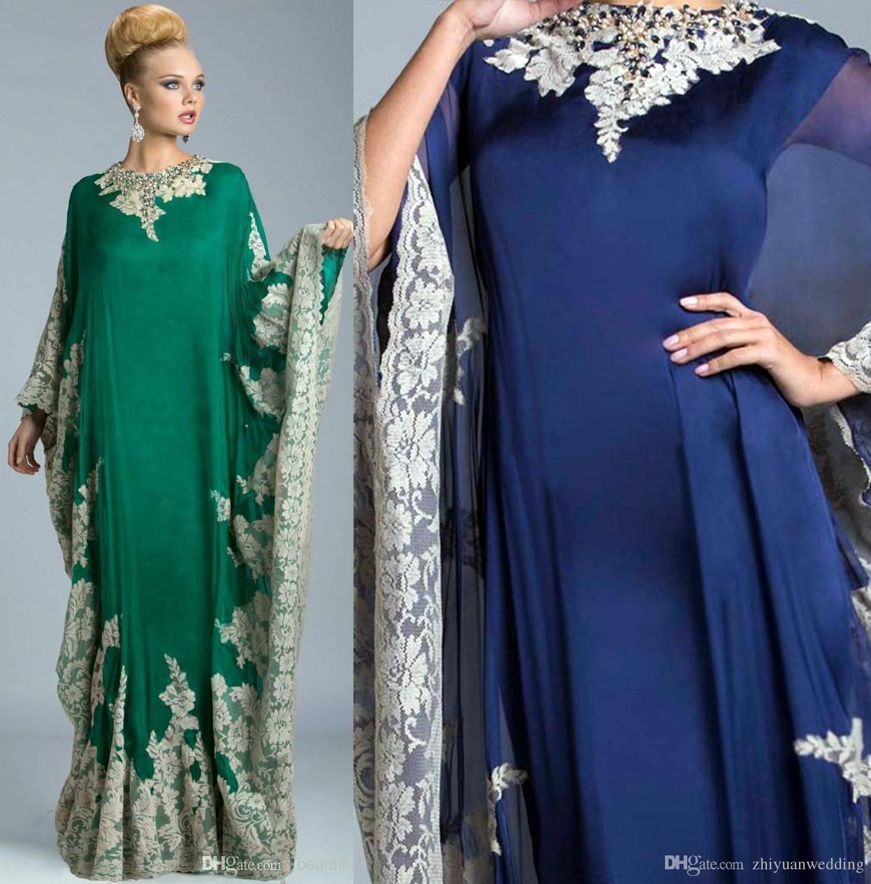 Großhandel 2017 Dubai Abayas Kaftans Kleider Muslim Abendkleider ...