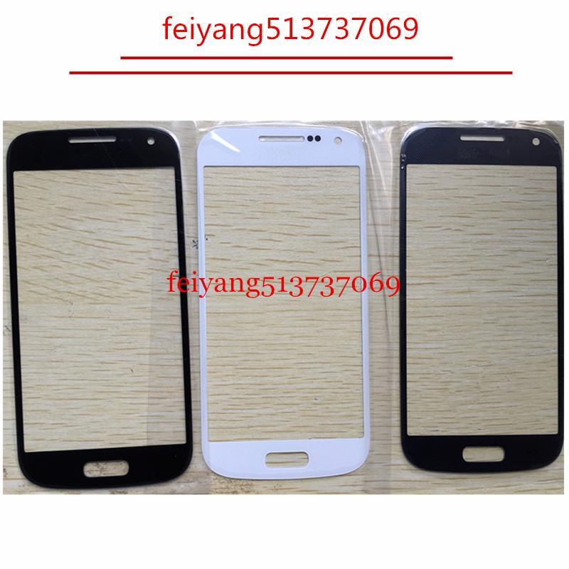 Vetro esterno di alta qualità per la sostituzione di Samsung Galaxy S4 mini i9190 i9195 i9192 LCD frontale in vetro trasparente esterno
