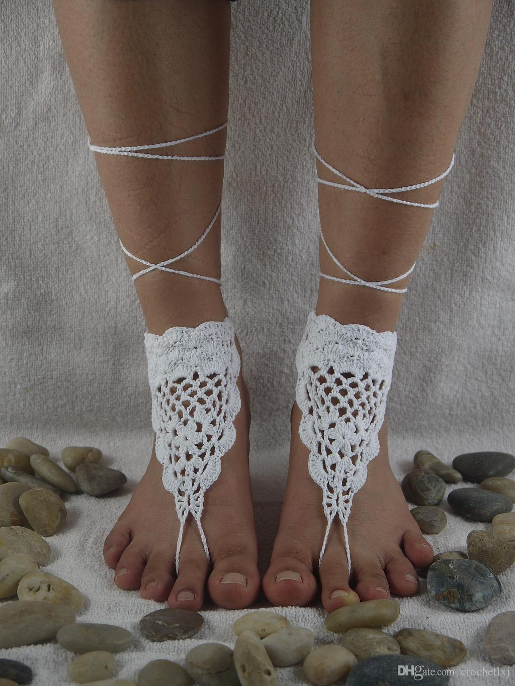 Black barefoot sandals