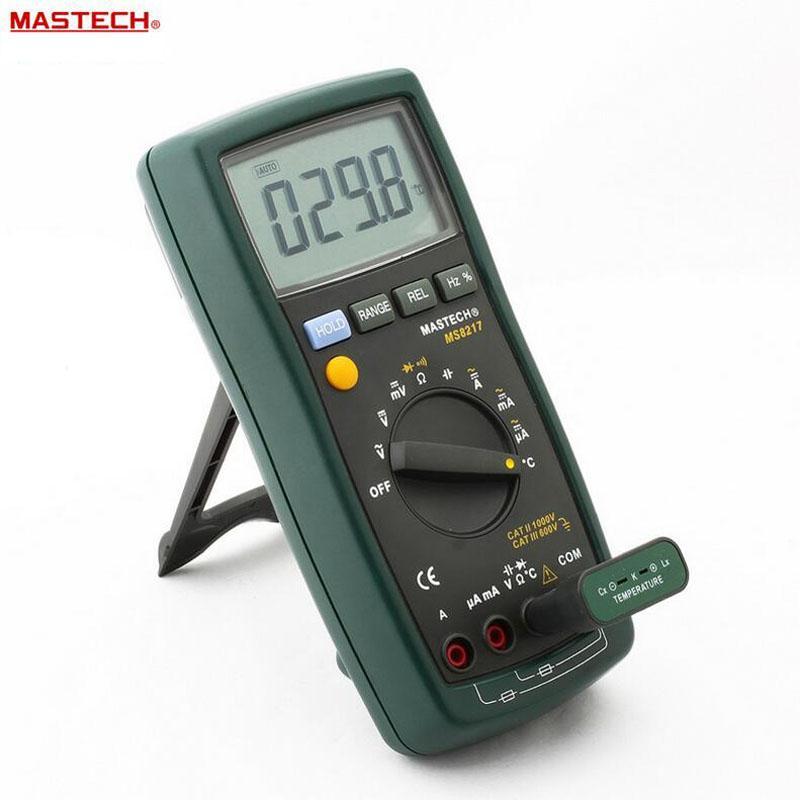 Freeshipping Taşınabilir Dijital Multimetre Otomatik değişen AC / DC Gerilim LCD Ekran Ile DMM REL Frekans Sıcaklık Test