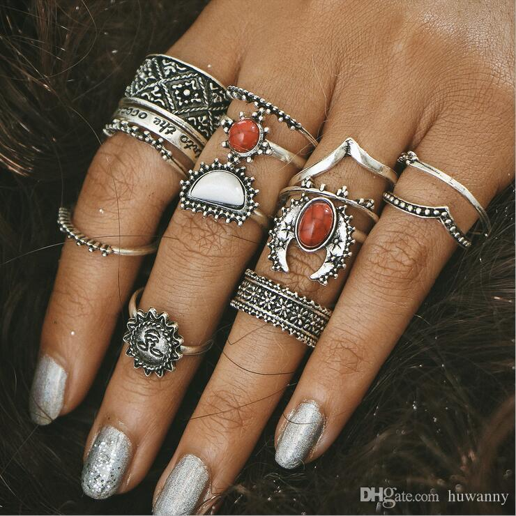 Silver Carved rings Hot Sale Retro Exquisite Cute Personality Punk Style Knuckle Rings Fashion Jewelry wholesale Free Shipping - 0569WR