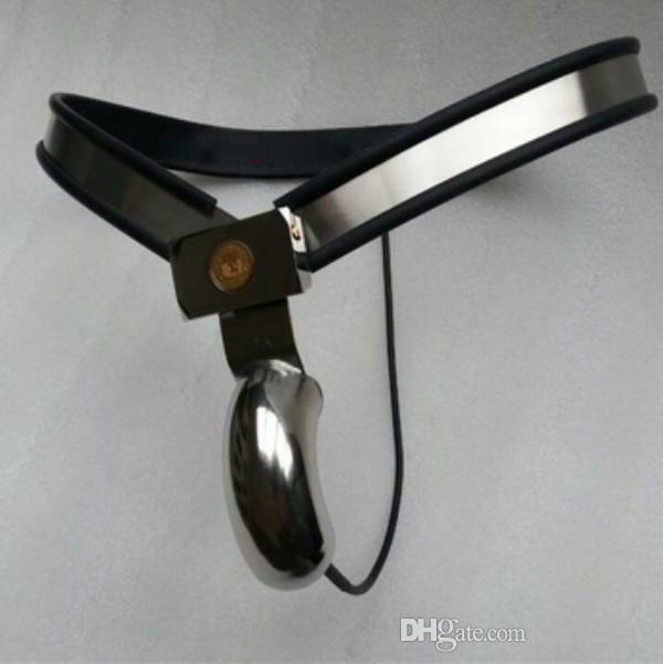 Sex Bondage Neue, Edelstahlkäfig M143 Keuschheitsgeräte WTIH Penis Abschlussbarer Schwanzkäfig Für verstellbare Männer Männliche Spielzeug TCJCJ