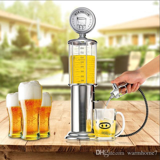 جديد البسيطة البيرة موزع آلة أوعية الشرب مضخة بندقية واحدة مع طبقة شفافة تصميم محطة الغاز بار لشرب النبيذ nnb
