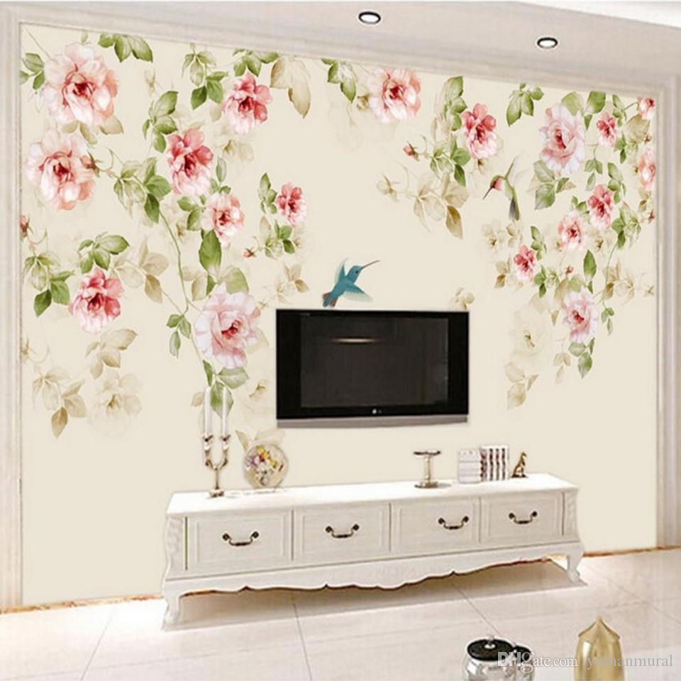 Photo Wall Floral Wallpaper Non Woven Fabric Wall Covering Classic