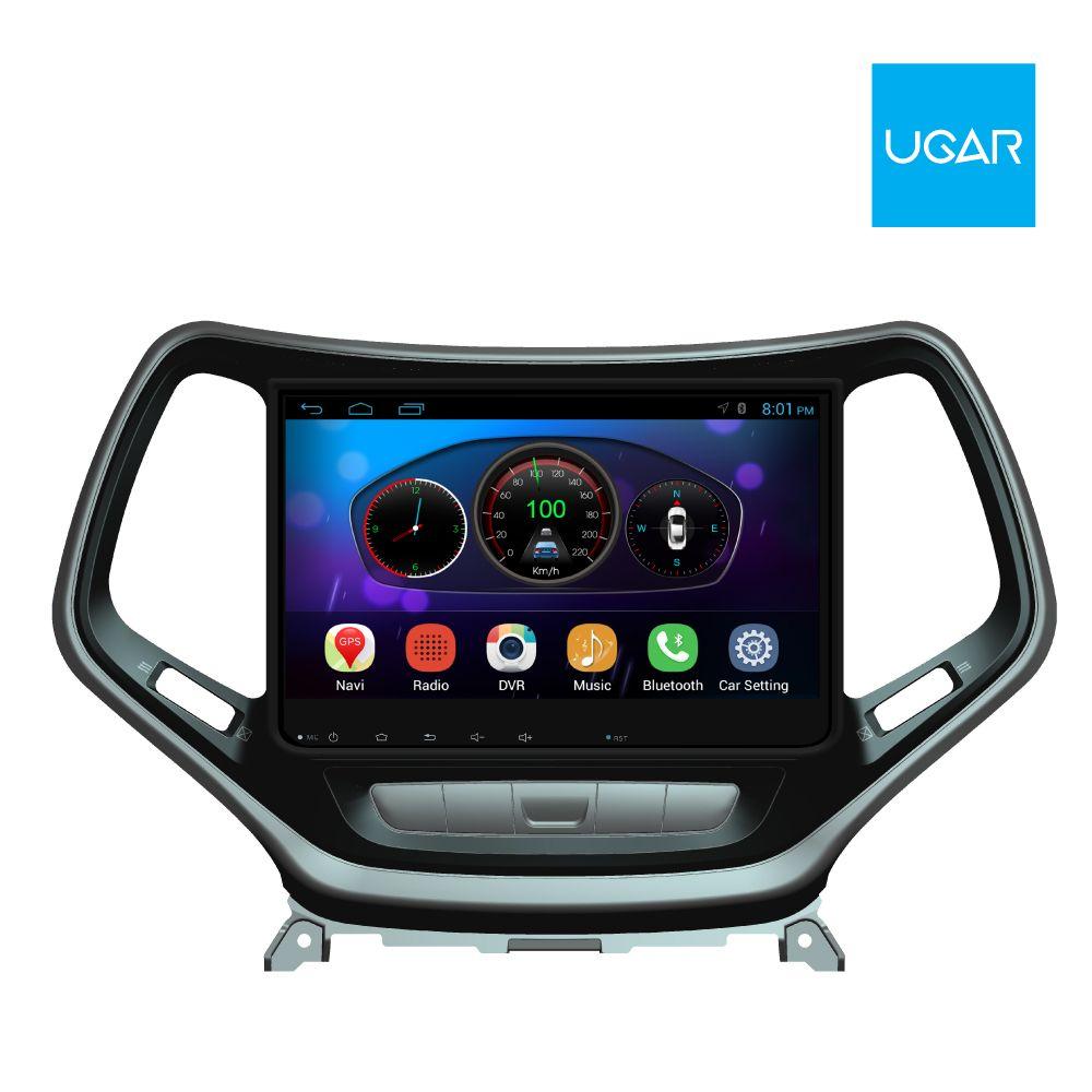 10.2 بوصة Jeep Cherokee 2016 Quad Core 1024 * 600 Android Car GPS Navigation for Multimedia Player Radio Wifi