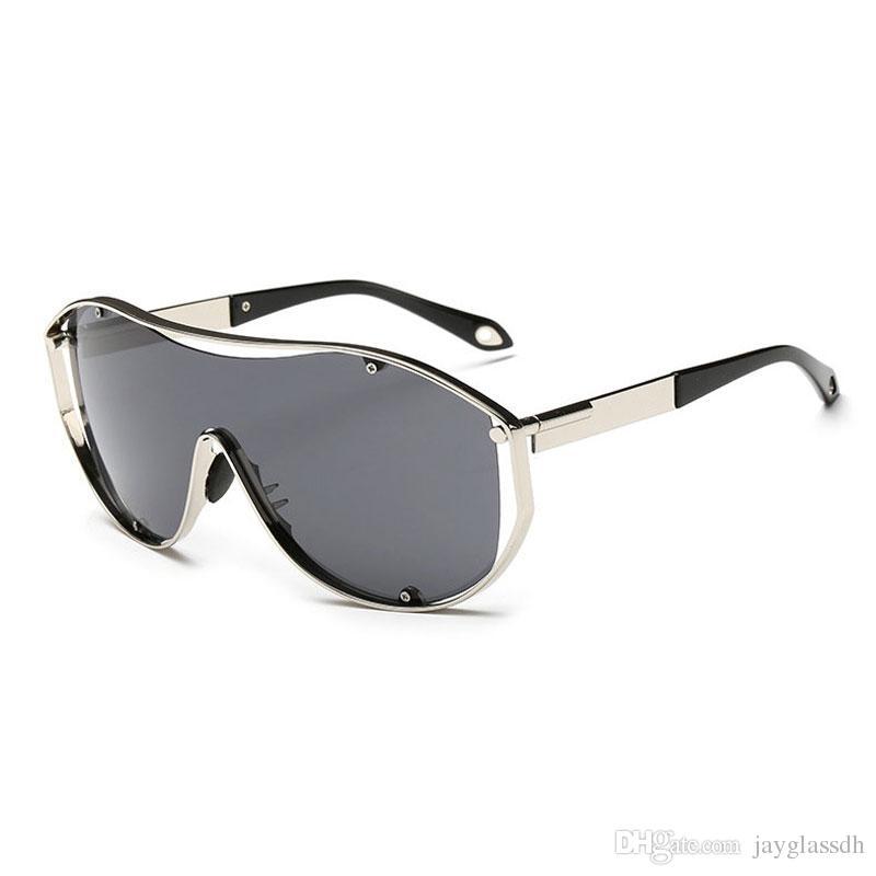Haute qualité 2020 grand cadre lunettes de soleil pilote hommes marée métal lunettes de mode unisexe personnalité tendance lunettes de soleil Meilleur prix goggle gros
