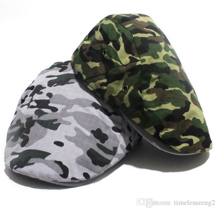 Fashion Camouflage Summer Caps Sun Hats For Men Women High Quality Casual Cotton Beret Fashion Boina