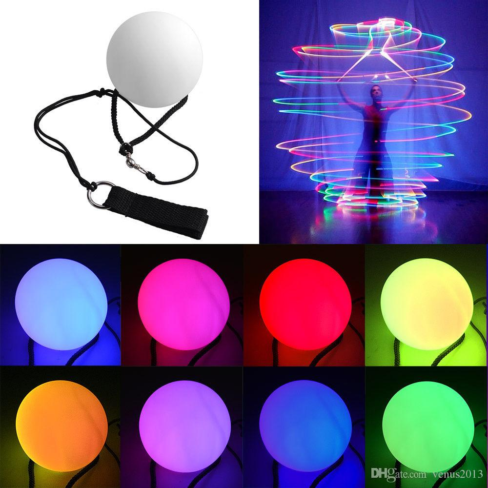 LED Hand Props women led poi thrown balls for accessories hand belly dance props aoto colo