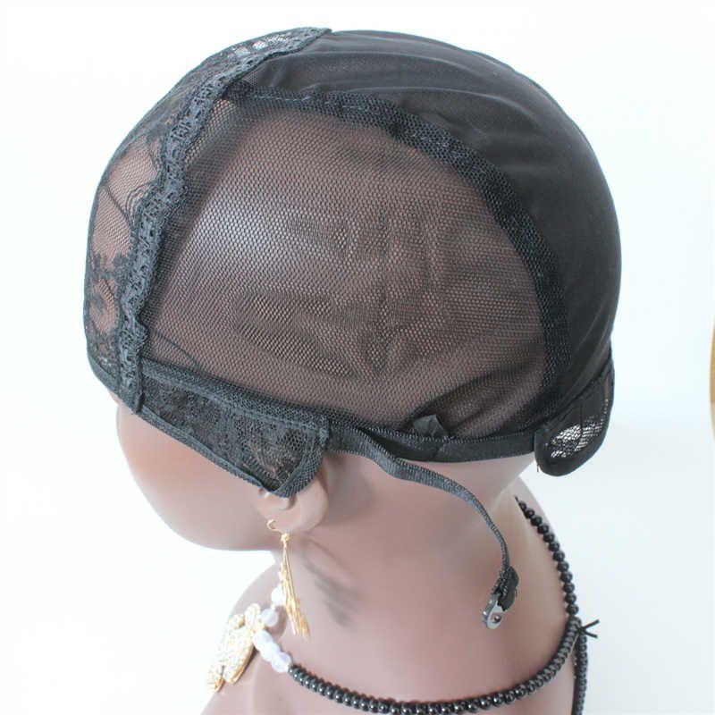 Expédition rapide meilleure qualité U Partie Wig Caps 3pc / lot Casquette Complète Pour Faire Des Perruques Stretch Dentelle Avec Des Bretelles Réglables Retour Weave Cap