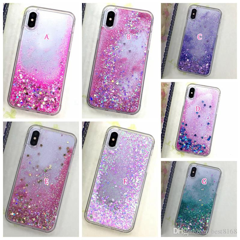 iphone x case glitter liquid