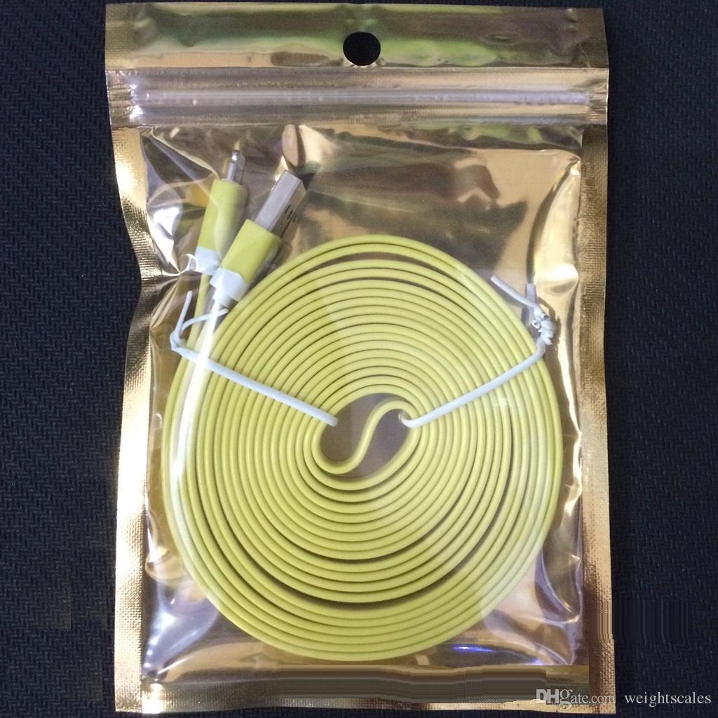 الذهب واضح + فضة كيس من البلاستيك زيبر الألومنيوم احباط التجزئة حقائب حزمة للشاحن كابل بيانات السيارة جولة حفرة التعبئة حقيبة 10.5x15cm
