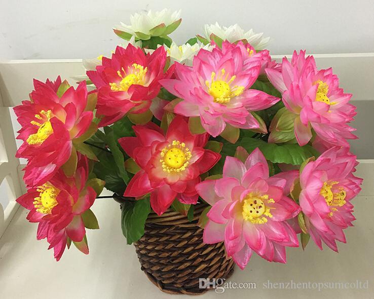 Eucalyptus artificiel Plantes aquatiques Fleur De Lotus Pour La Maison Mariage Décoration