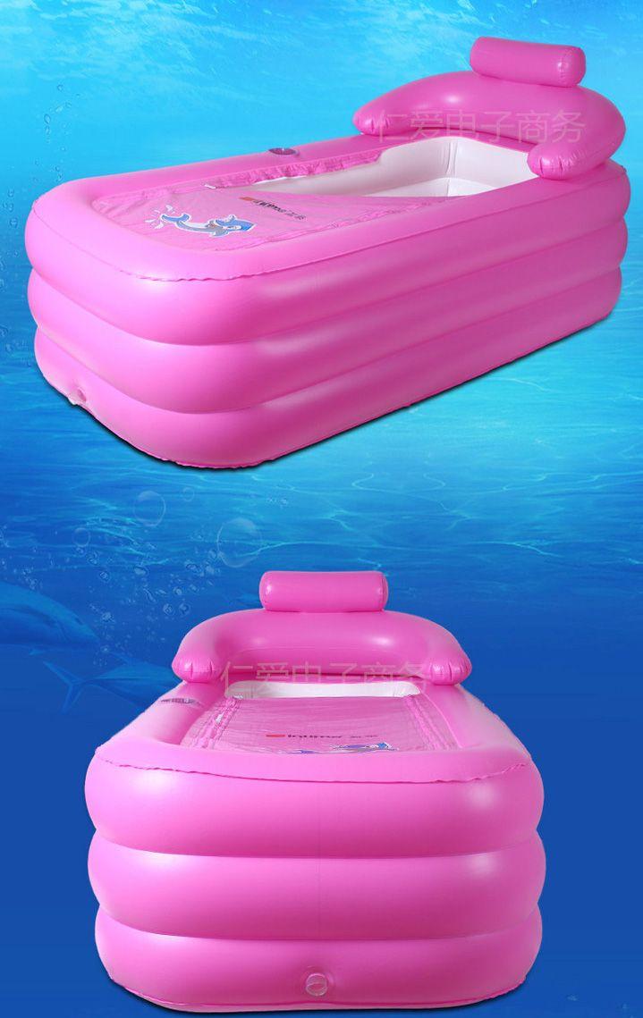 Online Cheap Portable Inflatable Bathtub Adult Thicken Pvc Spa ...