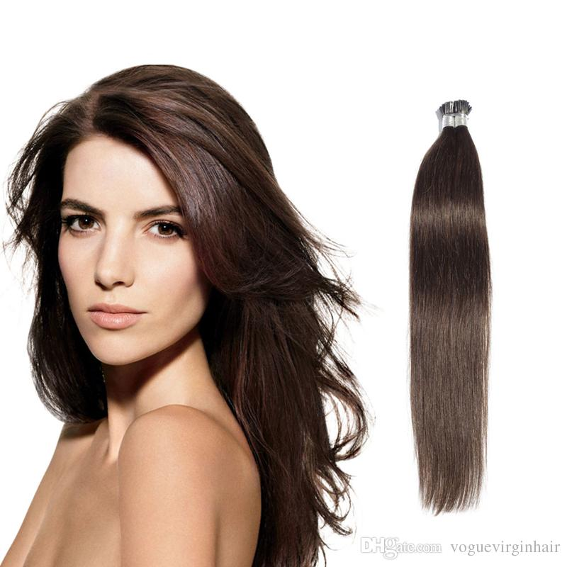 Hızlı kargo en kalite I-ucu Önceden bağlanmış saç uzantıları düz Brezilyalı İnsan saç önceden bağlanmış saç uzantıları 50 gram