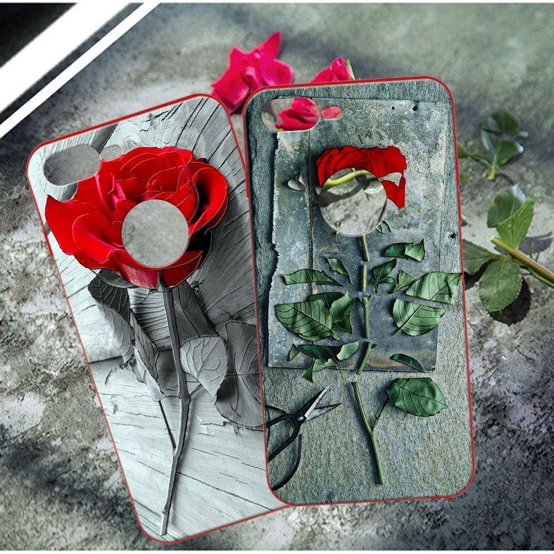 Gomma dura di plastica ultrasottile cassa glassata opaca Shield per i-P-h-o-n-e 7 più copertura casse del telefono mobile guscio posteriore Borse