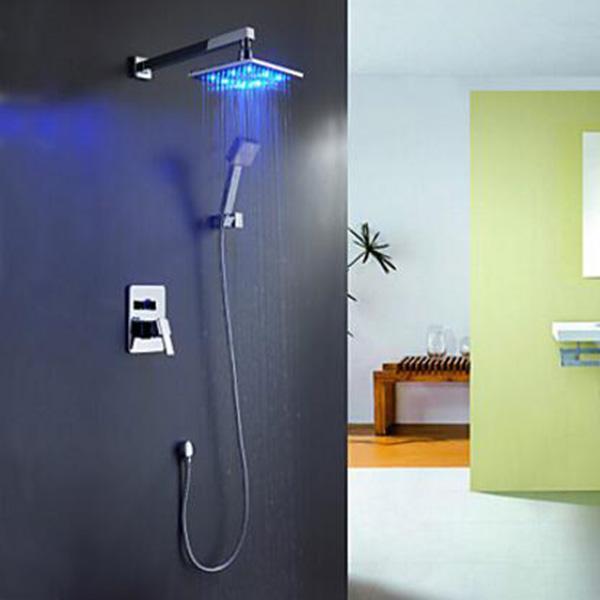 led licht dusche hhne zeitgenssische chrom fertige metall wand griff - Dusche Led Licht
