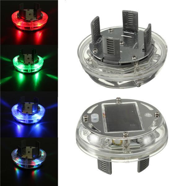 4PCS/Lot 4 Modes 12 LED Car Auto Solar Energy Flash Bright Wheel Tire Rim Light Lamp Decoration 1999-2013 Auto Warning Light